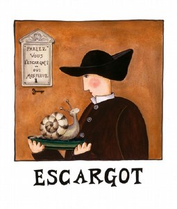 Escargot Print (unframed)