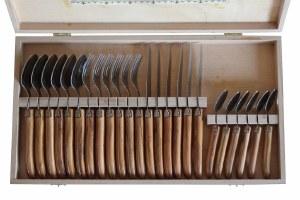 Laguiole Olivewood 24 Piece Flatware Set