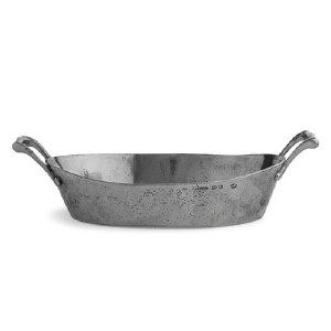 Rustic Oval Bowl with Handles