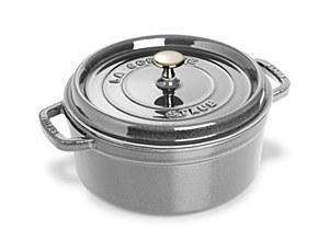 Staub Cocotte 4qt Round Grey