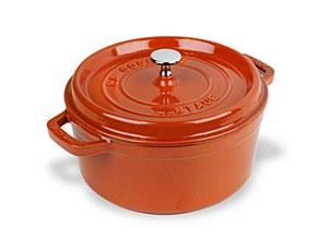 Staub Cocotte 4qt Round Orange