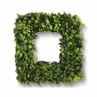 Square Boxwood Wreath 16""