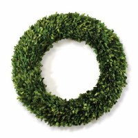 Round Boxwood Wreath 24""