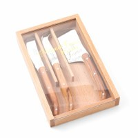 Mini Olivewood Laguiole Cheese Set