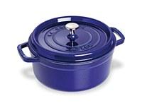 Staub Cocotte 4qt Round Blue