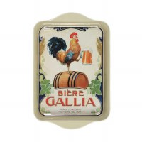 Tray Metal Biere Galia Rooster