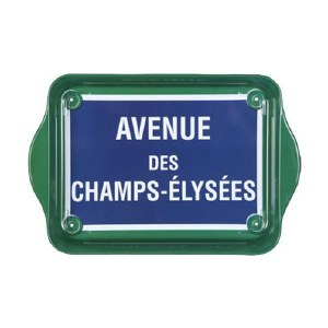 Metal Champs Elyees Tray