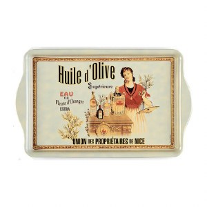Metal Huile d' Olive Tray