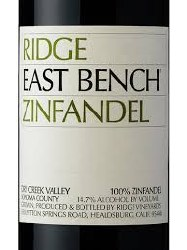 RIDGE ZIN EAST BENCH 750ML