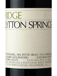 RIDGE ZIN LYTTON SPRINGS 750ML