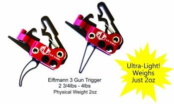 Elf 3-Gun Trigger, Flat Shoe
