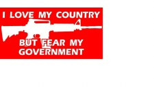 Bumper Sticker Love My Country