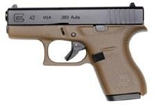 Glock 42 FDE frame .380 6rd