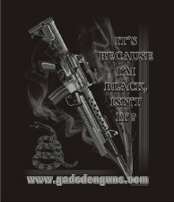 T-Shirt-Black Rifle Men-Lg