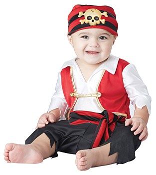 Pee Wee Pirate Newborn Costume