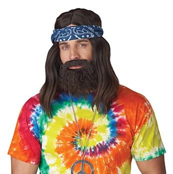Up In Smoke Wig, Beard & Moustache Set