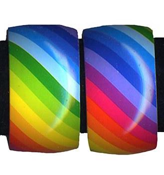 70's Rainbow Bangle Bracelet
