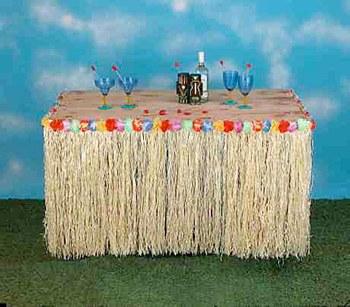 Flower Raffia Table Skirt