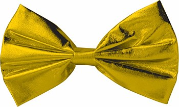 Bow Tie Gold Metallic Clip On