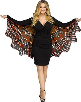 Fantasy Butterfly Fabric Wings - Monarch Gold