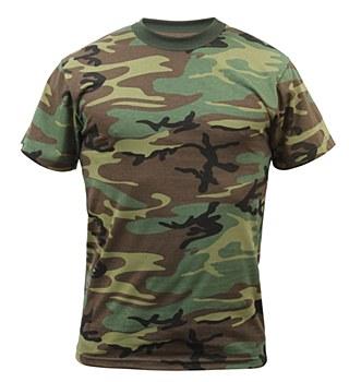 Army Woodland Camo Adult T-Shirt