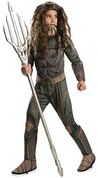 Aquaman Justice League Deluxe Muscle Child Costume