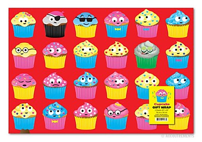 Cupcake Print Gift Wrap
