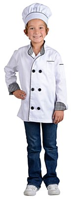 Junior Chef Jacket And Hat Child Costume Set