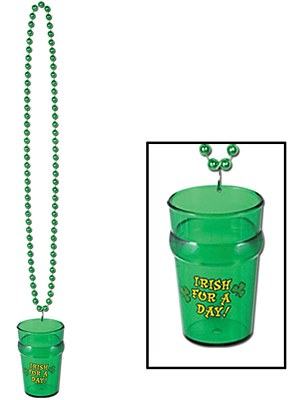 Irish For A Day Shot Glass Necklace