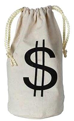 Old West $ Money Bag