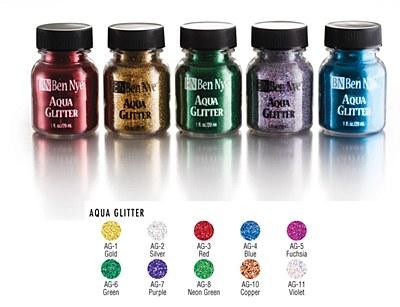 Ben Nye Aqua Glitter - Gold 1oz