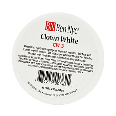Ben Nye Clown White Cream 3oz