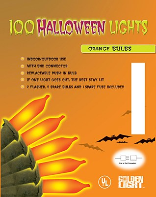 Halloween Mini Orange Lights