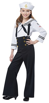 Navy Sailor Girl Child Costume