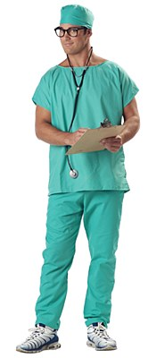Doctor Scrubs Adult Costume