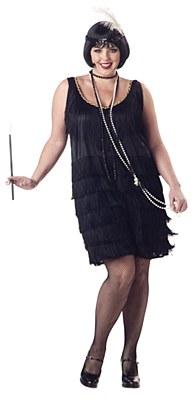 Flapper Fashion Adult Plus Costume