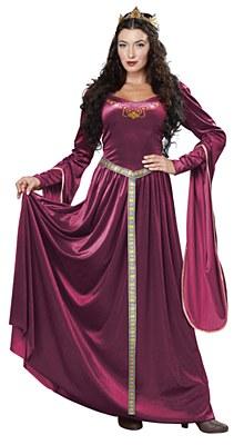 Lady Guinevere Wine Adult Costume