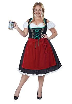 Oktoberfest Fraulein Adult Plus Costume