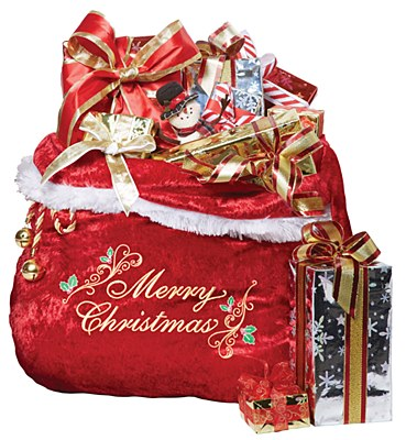 Velour Santa Bag