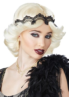 20's Glitz And Glamour Blonde Flapper Wig