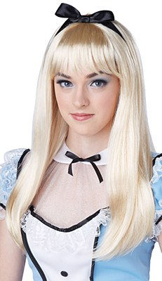 Alice Blonde Wig And Bow