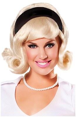 60's Headband Blonde Flip Wig