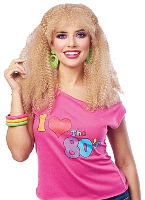 80's Crimped Blonde Wig