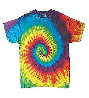 Tie Dye Reactive Rainbow Child Shirt