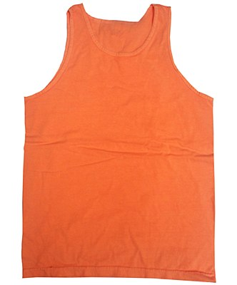 Neon Orange Unisex Adult Tank Top