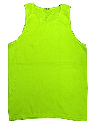 Neon Yellow Unisex Adult Tank Top