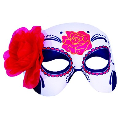 Day Of The Dead Flower Mask