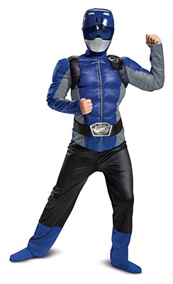 Power Rangers Beast Morphers Blue Ranger Deluxe Muscle Child Costume