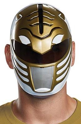 Power Rangers White/Gold Ranger Mask