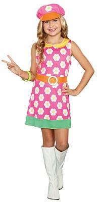Girly A Go Go 60's Child Costume